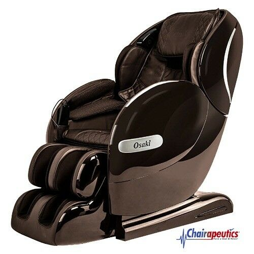 Brown Osaki OS-Monarch L-Track Heat Therapy Bluetooth Zero-G 3D Massage Chair