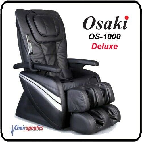 OSAKI OS-1000 Black Deluxe Full Body Massage Chair 5 Preset Program w/ Remote