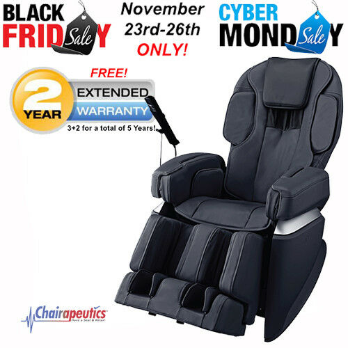 SALE Black Osaki JP-4.0 Japan Premium 4.0 4D Double Heater Stretch Massage Chair