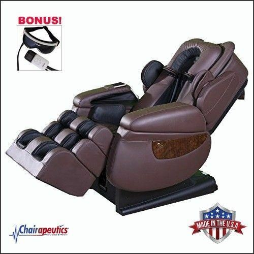 Luraco Brown iRobotics i7 Plus 3D Zero Gravity Massage Chair Bonus Eye Massager