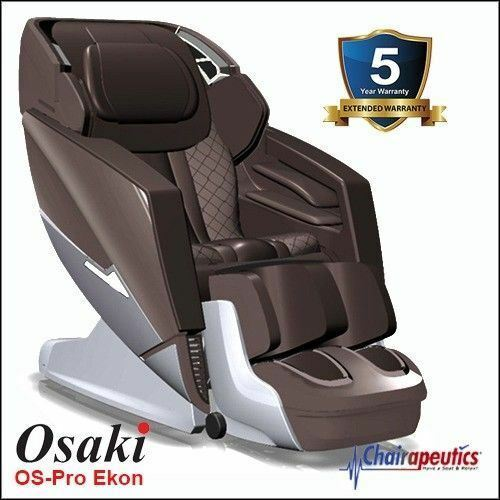 Osaki OS-Pro Ekon Brown L-track Zero-G Heat 3D Massage Chair 5 Year Warranty