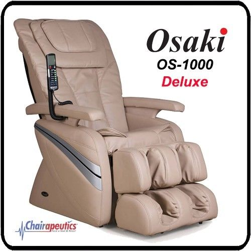 OSAKI OS-1000 Cream Deluxe Full Body Massage Chair 5 Preset Program w/ Remote