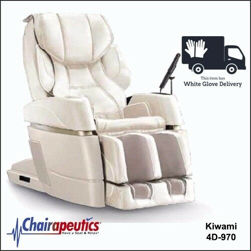 Cream Kiwami 4D-970 Massage Chair Japan Touch Screen Bed Position & White Glove