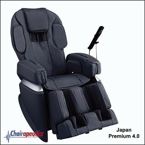 Black Osaki JP-4.0 Japan Premium 4.0 4D Double Heater Stretch Massage Chair