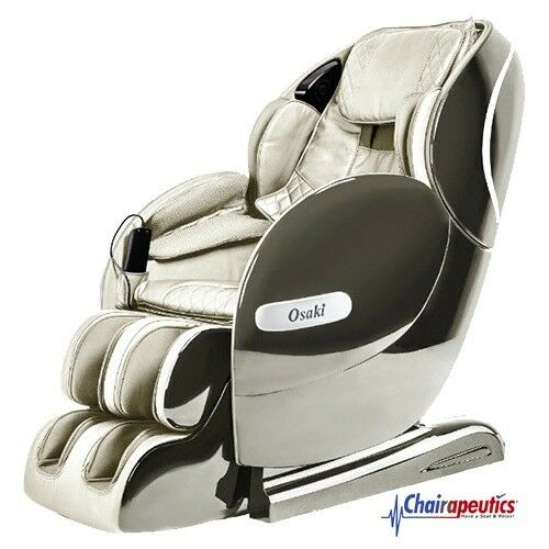 Cream Osaki OS-Monarch L-Track Heat Therapy Bluetooth Zero-G 3D Massage Chair