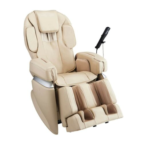 Cream Osaki JP-4.0 Japan Premium 4.0 4D Double Heater Stretch Massage Chair