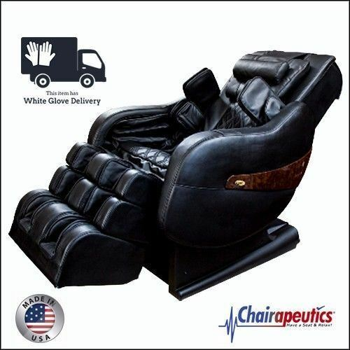 Black Luraco Legend PLUS L-Track Zero-G Massage Chair - White Glove Delivery
