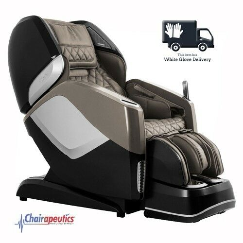 Taupe Osaki OS-Pro Maestro L&S Track Heated Rollers Massage Chair + White Glove