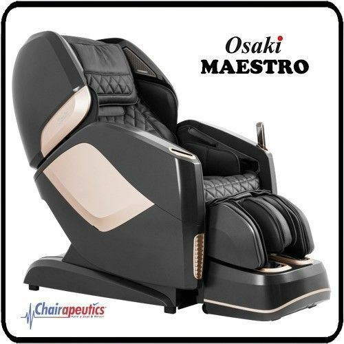 Black Osaki OS-Pro Maestro L/S Track Zero-G Heated Rollers Real 4D Massage Chair
