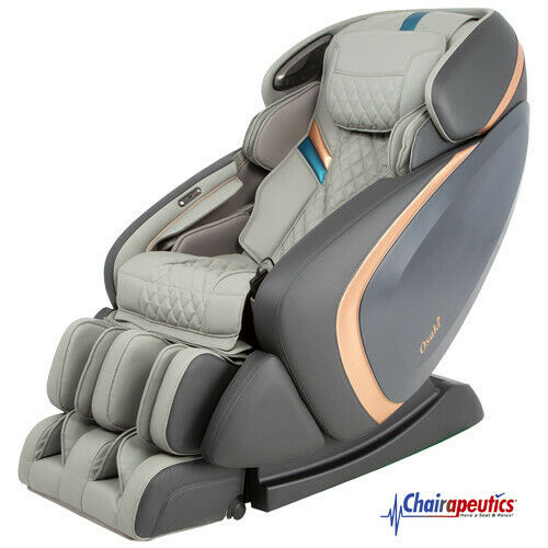 Grey Osaki OS-Pro Admiral L-Track Foot Roller Zero-G 3D+ Heated Massage Chair