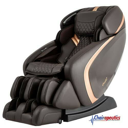 Brown Osaki OS-Pro Admiral L-Track Foot Roller Zero-G 3D+ Heated Massage Chair