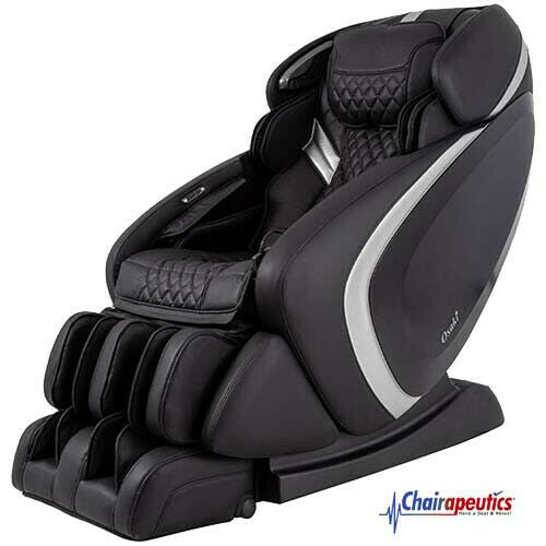 Black Osaki OS-Pro Admiral L-Track Foot Roller Zero-G 3D+ Heated Massage Chair