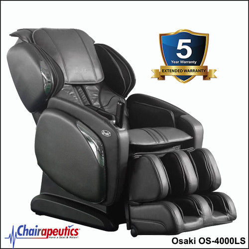 Black Osaki OS-4000LS L-Track Massage Chair With 5 Year Extended Warranty