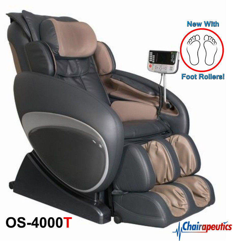 Osaki OS-4000T Charcoal ZERO GRAVITY Recliner Massage Chair Foot Rollers