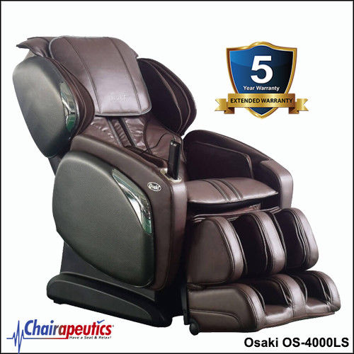 Brown Osaki OS-4000LS L-Track Massage Chair With 5 Year Extended Warranty