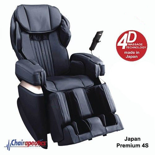 Osaki Black OS-Pro Japan Premium 4S Massage Chair Double Heat Touch Screen