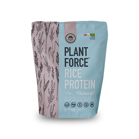 Plantforce® Rice Protein Natural 800g - ORGANIC (DK-ØKO-100)