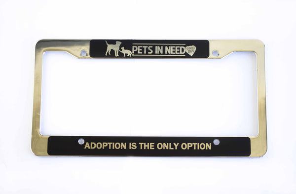 Pets In Need License Frame