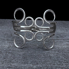 Load image into Gallery viewer, Circles 3 Double Fork Bracelet