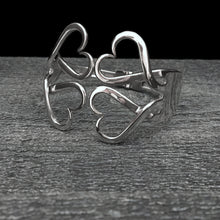 Load image into Gallery viewer, Double Heart Double Fork Bracelet