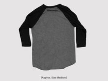 Grey/Black Unisex Baseball Tee