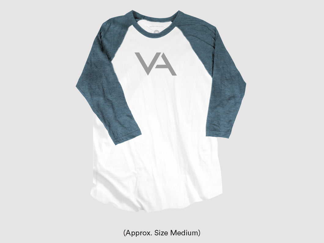 White/Denim Unisex Baseball Tee