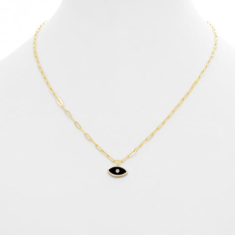 Enamel Evil Eye Necklace - Impulse Jewelry and Accessories