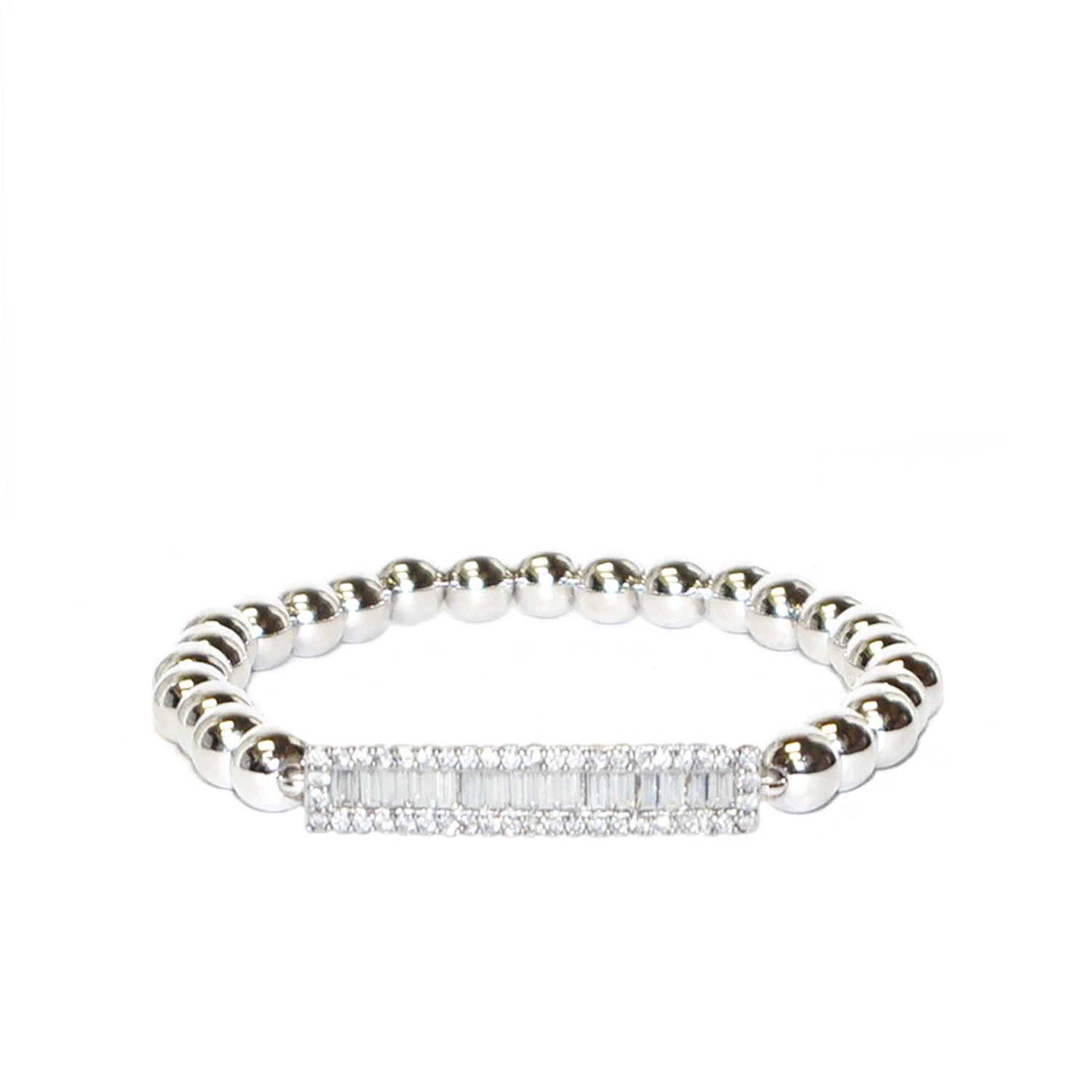 Crystal Bar Stretch Bracelet - Impulse Jewelry and Accessories