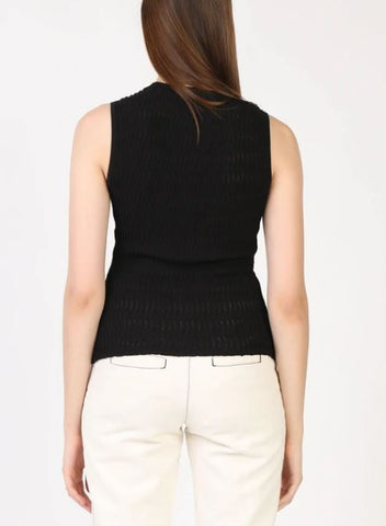 Sleeveless Pointelle Knit Top - Impulse Jewelry and Accessories