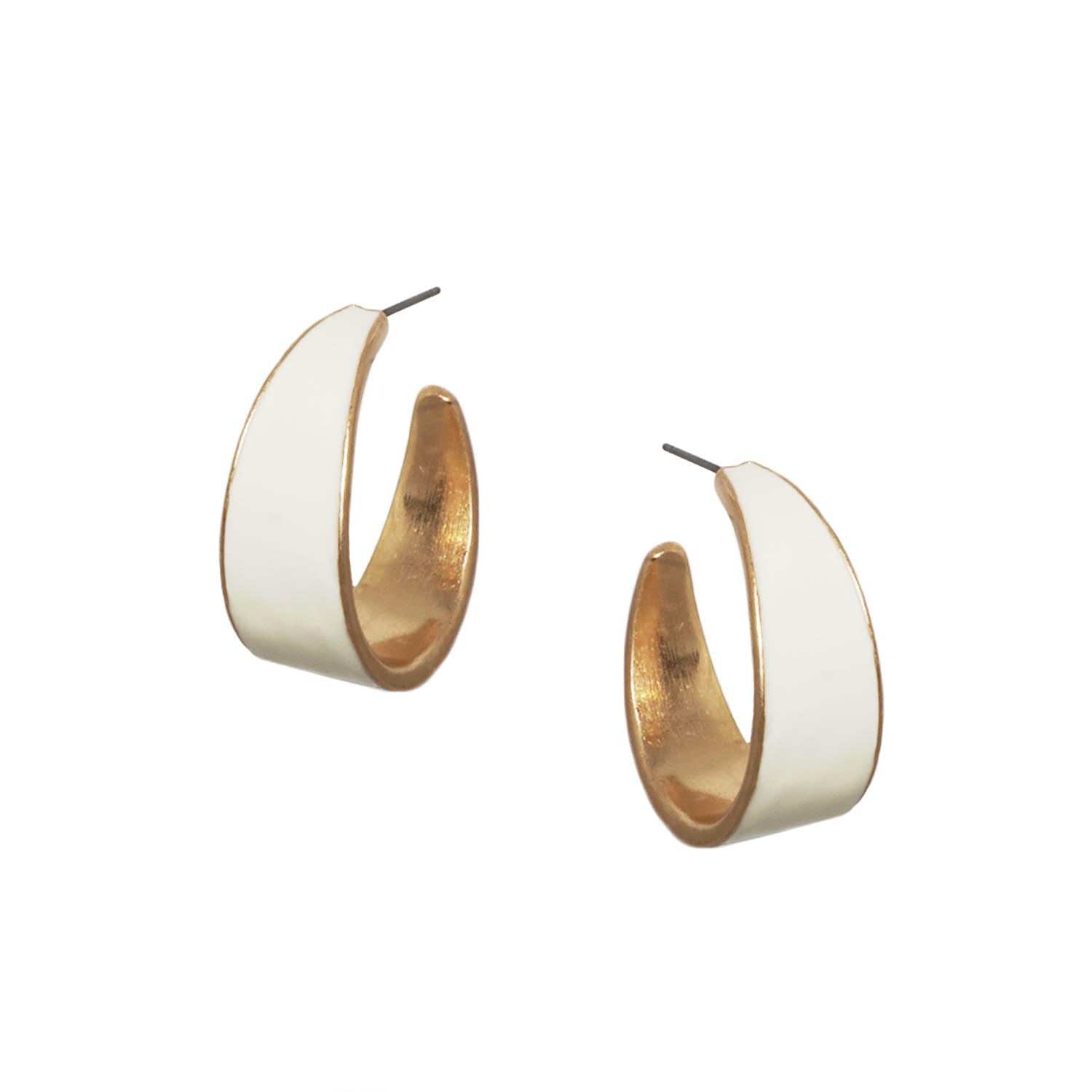 Wide Enamel Hoops - Impulse Jewelry and Accessories