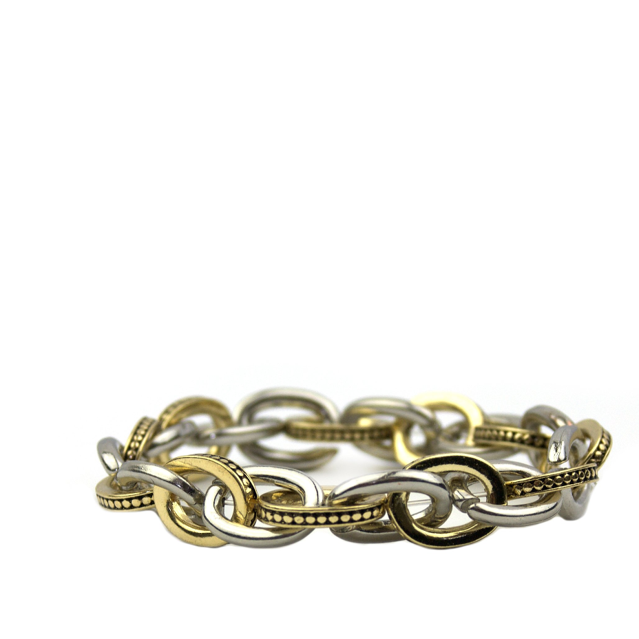 Textured Link Stretch Bracelet - Impulse Jewelry and Accessories