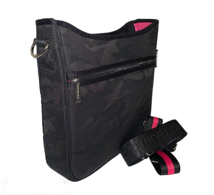 Neoprene Black Camo Messenger Bag - Impulse Jewelry and Accessories
