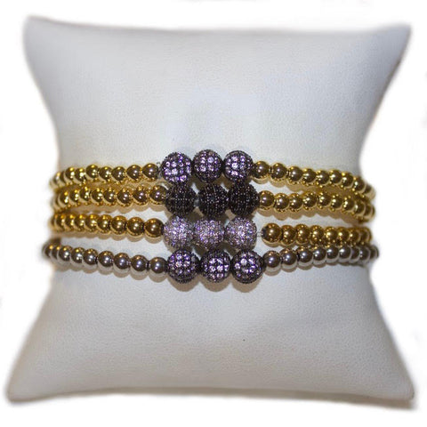 Triple Pave Ball Bracelet - Impulse Jewelry and Accessories