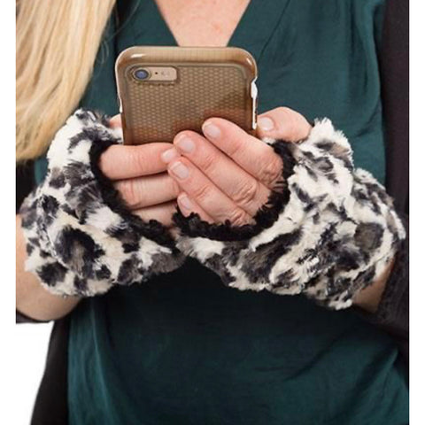 Faux Fur Fingerless Gloves - Impulse Jewelry and Accessories