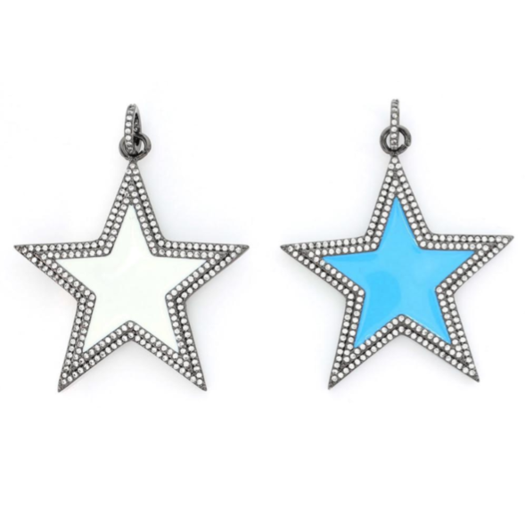 Enamel Star with Crystals - Impulse Jewelry and Accessories