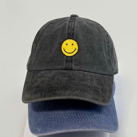Smiley Face Baseball Hat - Impulse Jewelry and Accessories