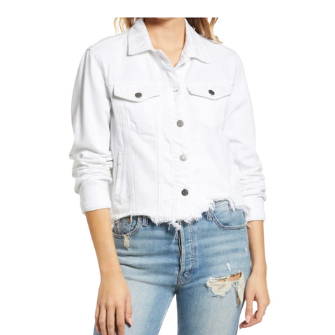 Super Soft White Denim Jacket - Impulse Jewelry and Accessories