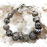 All Sterling Silver Bracelet with custom clasp.