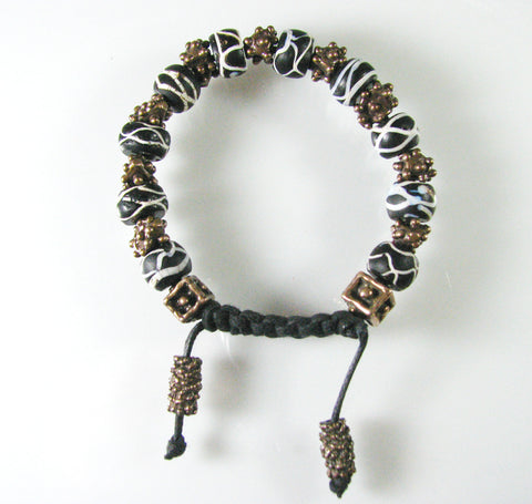 African Glass Trade Bead Bracelet.