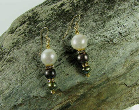 Pearl Drop Earrings.
