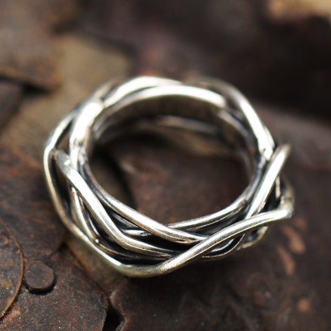 Sterling Silver Wire Ring.