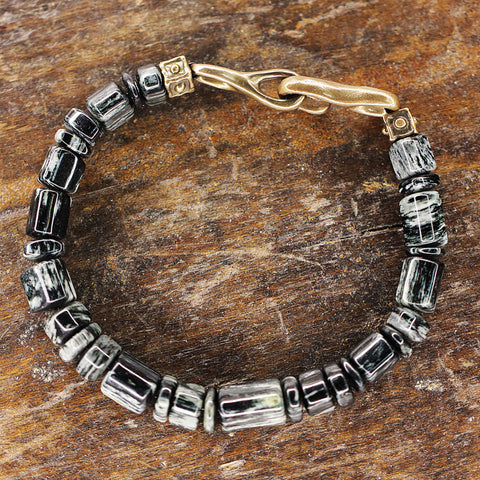 Arizona Zebra Jasper and Bronze Bracelet.