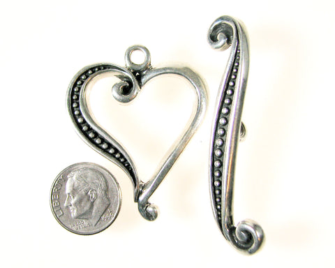 Handmade Sterling Silver Toggle Clasp.