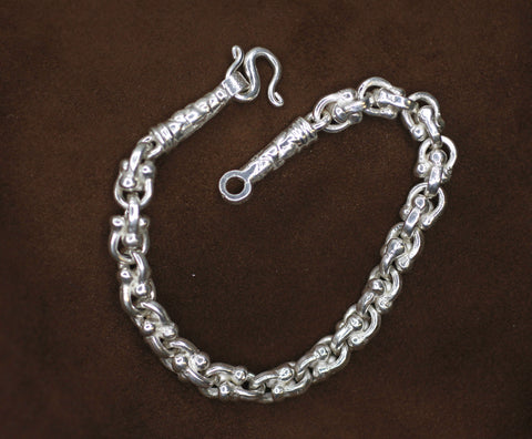 Sterling Silver handmade link chain.