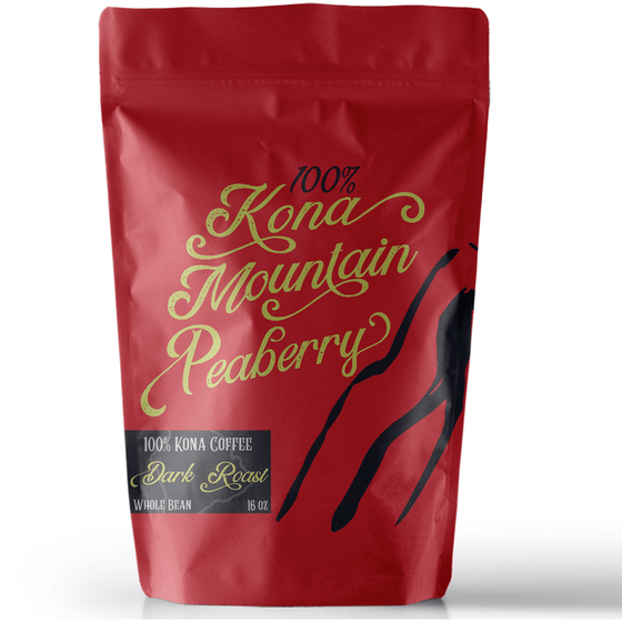 100% Kona Coffee Peaberry Dark Roast