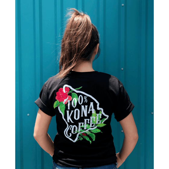 Kona Coffee Shirt with island design