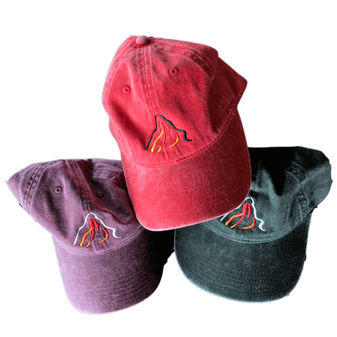 Kona Mountain Hat with mountain logo on front
