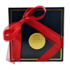 Black Chocolate Box with red ribbon