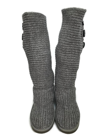 UGG Australia Crocheted Classic Shearling Boot 5819 Grey Women's Size 7