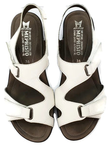 Mephisto air relax Leather Sandals Velcro White *Size 6*